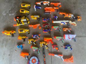 Massive Nerf Dart Gun Blaster Party Lot Hasbro Small medium Large 20+ #2