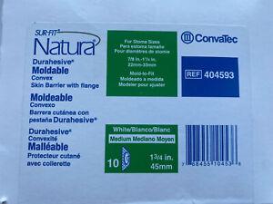 1 Box/10 ConvaTec 404593 SUR-FIT Natura Durahesive Moldable Convex Barrier 45mm