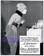 Parfum Leichner XL Reklame 1913 Dame Weihnachten Rumpf Kleid Parfüm Werbung