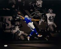 Odell Beckham Autographed NY Giants 16x20 B/W & Color Photo- JSA Auth