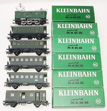 Kleinbahn HO 1:87 ÖBB E-1280 ELECTRIC LOCOMOTIVE + 5x PASSENGER WAGON Set MIB!