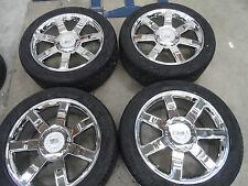 "22""x9"" Cadillac Escalade Rims Replica Chrome Factory Style Wheels Tires Sale 24"