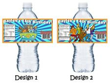 (20) SCOOBY DOO PERSONALIZED BIRTHDAY PARTY FAVORS WATER BOTTLE LABELS WRAPPERS