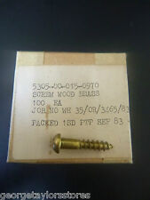 Vintage Brass Wood Screws 10g x 25mm Phillips Round Head QTY 100 NOS