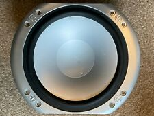 New listing Working Monitor Audio Silver Rs6 Bass Speaker for Parts - Minor Dent in Center