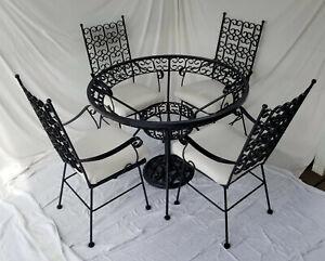 FULLY RESTORED Arhtur Umanoff mid-century wrought iron Granada dining set