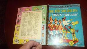 THE TOY SOLDIERS Babes in Toyland vintage LITTLE GOLDEN BOOK Walt Disney D70:30