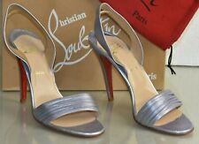 NEW Christian Louboutin Sandals metallic Lilac Leather Purple Slingback Shoes 41