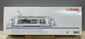 "Marklin  34613  SBB Eloc 460 ""Tilsiter"".  Swiss Federal Railways (SBB).  Mint"