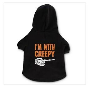 """Bootique Dog Hoodie I'm With Creepy Size Large 17-19"""" Lights Up Halloween"""