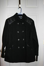 New Apt 9 womens Black double breasted military style winter coat  XLarge XL