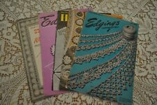 5 Vintage 1940's  Crochet Tatting Knitting Edgings for Hankies Slips Pillowcases
