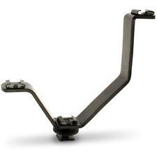 Forma di V Hot Shoe Staffa di montaggio a triplo per SLR FOTOCAMERA DSLR Flash MICROFONO LUCE LED