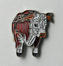 HEREFORD BULL COW CATTLE LAPEL PIN BADGE 3/4 INCH