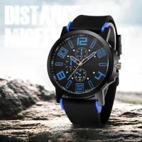 Men's Waterproof Fashion Silicone Band Sports Watches Quartz Wrist Analog Watch