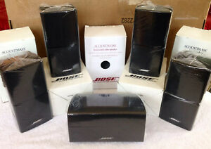 5 Bose MINT Black Speakers 1 Center 4 Surround Double Cube Acoustimass Lifestyle