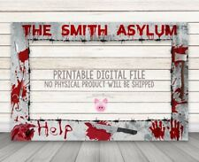 PRINTABLE DIGITAL DOWNLOAD Halloween photo booth frame Asylum Selfie Photo Frame