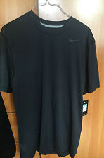 Nike Men'S active sport Short sleeve tee shirt Sz medium Black Nwt