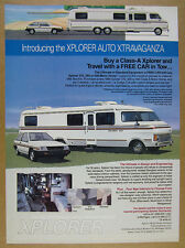 1987 Xplorer 440 Motorhome RV color photos vintage print Ad