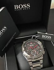 NEW HUGO BOSS HB1513361 GUN METAL SUPER NOVA EDITION CHRONOGRAPH MEN'S WATCH UK