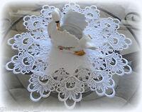 """16"""" Doily Round  DECADENT WHITE  European Lace"""