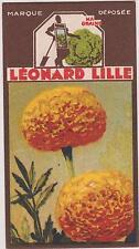 BON POINT PUBLICITAIRE LEONARD LILLE/ LYON GRAINES POTAGERES/ROSE D'INDE