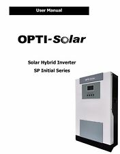 PDF user manual for hybrid solar PV inverter with charger from OPTI SOLAR
