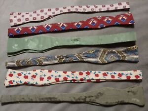 LOT OF 6 Six Handmade Vintage Retro BOW TIES All Excellent Condition