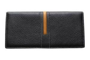 Big Unisex Bi-Fold Black Genuine Leather Wallet ID Credit Card Holder VIVALDI