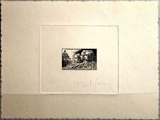 FRANCE FRANKREICH 1951 916 656 Artist sig. DELUXE PROOF Military Medicine Doctor