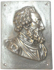 France HENRI IV high-relief cast iron plaque 158mm x 196mm