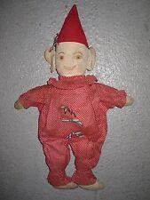 Antique Vintage American Folk Art Flapper Era Painted Cloth Toy Boy Doll Fun Hat