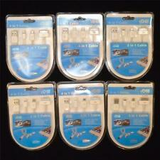 4 IN 1 CHARGER SYNC CABLE LIGHTNING iPHONE iPAD SAMSUNG USB LOT of 6 FREE S&H RV