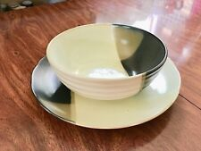 Sango Mystique Brown 5036 Vegetable Bowl and Large Platter