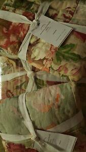 Pottery Barn Carolina Quilt Set Queen 2 Standard Shams Floral Patchwork Cottage