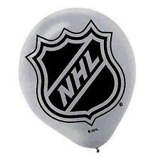 NHL HOCKEY LATEX BALLOONS (6) ~ Birthday Party Supplies Helium Decorations Sport