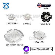 High Power LED SMD Chip Royal Blue 440-450nm 1W 3W 5W 10W 20W 30W 50W 100W Watt