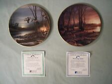 Hadley House Collector Plates   EVENING GLOW & MORNING GLOW  Terry Redlin  NEW