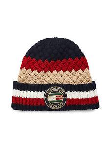 Tommy Hilfiger Mens Wool Mix Remix Beanie Hat
