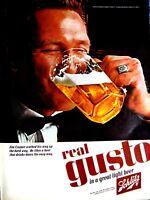 "1965 Schlitz Beer REAL GUSTO Original Print Ad 8.5 x 11"""