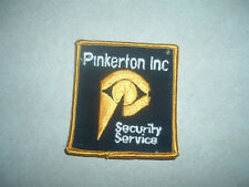 PATCH SECURITY PINKERTON SECURITY SERVICES 3 INCHES BY 2 3/4 INCHES