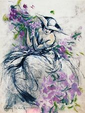 Louis Icart LAVENDER LADY Signed Limited Edition Large Giclee Art