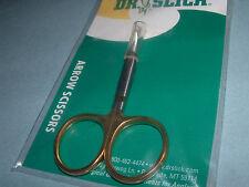 Dr Slick Arrow 3 1/2 inch Curved Scissors Fly Tying Fishing Tools STD SAC35G