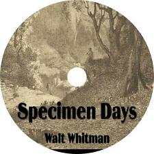 Specimen Days, Walt Whitman His Life Adventures Audiobook on 12 Audio CDs