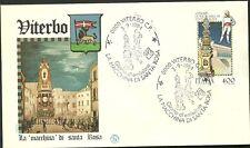ITALIA BUSTA FILAGRANO  LA MACCHINA DI SANTA ROSA  ANNULLO VITERBO FDC 1984