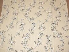 """Linen blend fabric remnant 78x114 cm (31""""x45"""") floral pattern"""