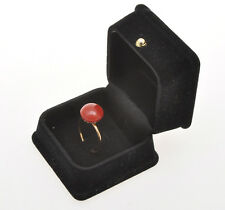 vintage 1940 red coral and 18k gold ring (italian coral) exc++++