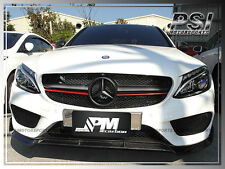 B Type Carbon Fiber Front Bumper Lip For 2015+ W205 C300 C400 Sedan w/AMG Sports