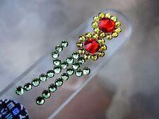 "Mont Bleu Crystal Glass Nail File Sun Flower with Swarovski Crystal  5 1/2"" NEW"