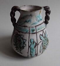 Jérome massier. Vallauris. Vase en faïence décor de motifs stylisés, XXe siècle